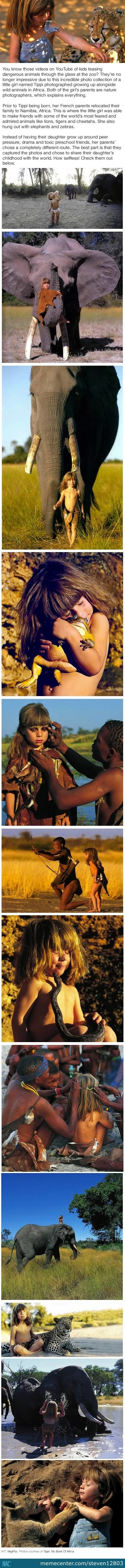 Little Girl Grows Up In Africa