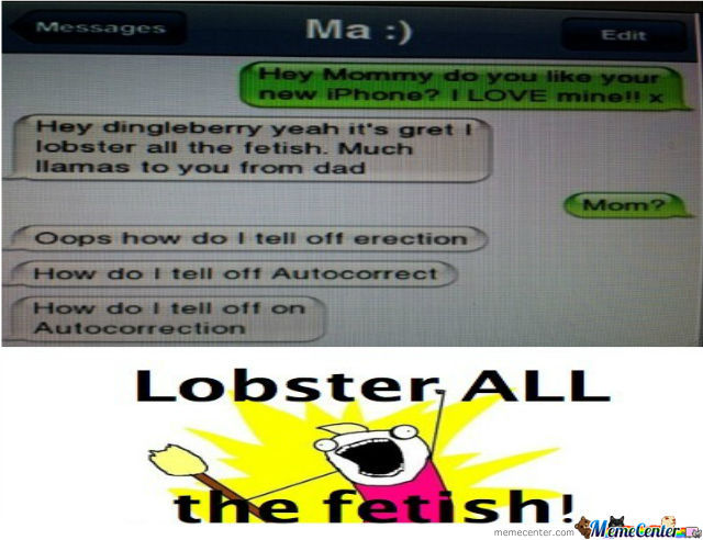 Lobster All The Fetish!!!!!