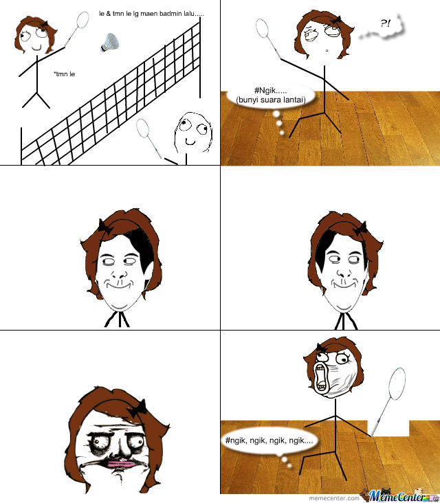 lol moment at badminton courts_o_1029442 lol moment at badminton courts by acel meme center
