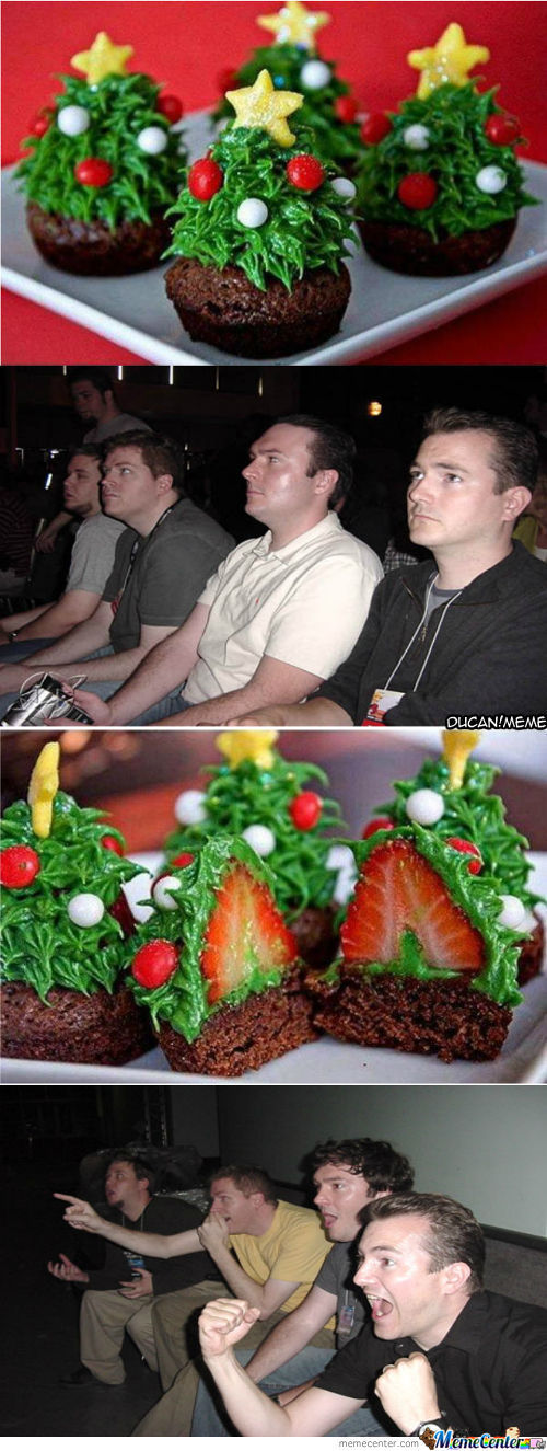 reaction guy christmas cake