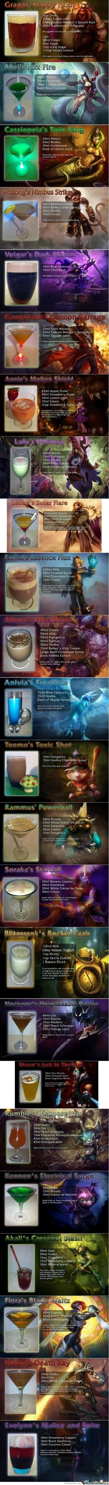 (Long Post)For Lol Players, Lol Bar Menu