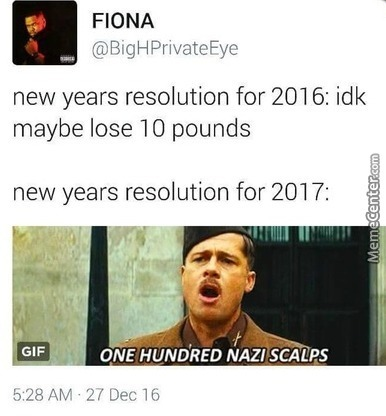 Looks Like A Nice New Years Resolution!