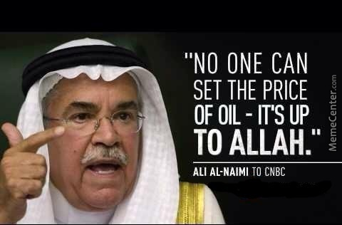 Looks Like Allah Was Elected As The New Head Of Opec.