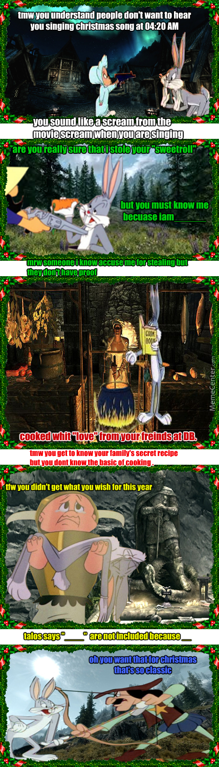 Looney Tunes Comicstrips 01 Bugs Bunny S Christmas In Skyrim By