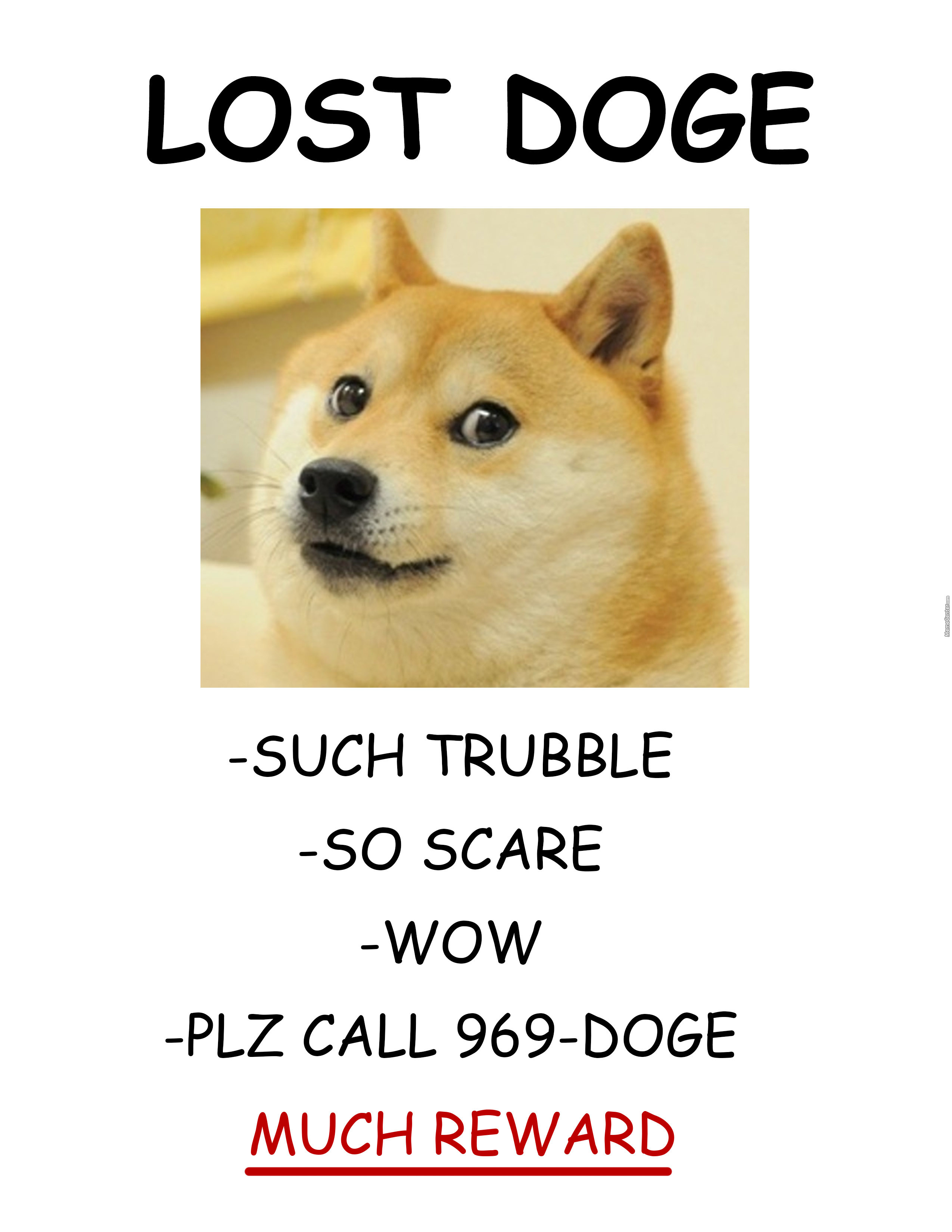 Lost Doge Much Help Pls By Officialdoge Meme Center