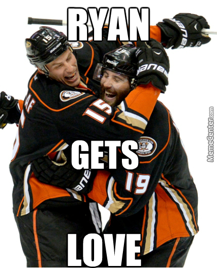 Love Is In The Air For Ryan Getzlaf