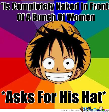 Luffy's Fucked Up Hat Logic