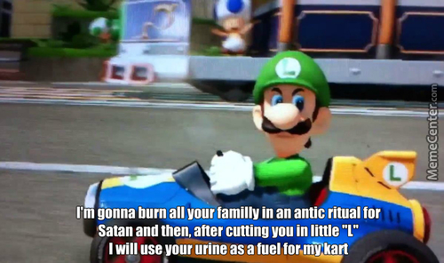 Luigi's Death Stare Real Meaning....