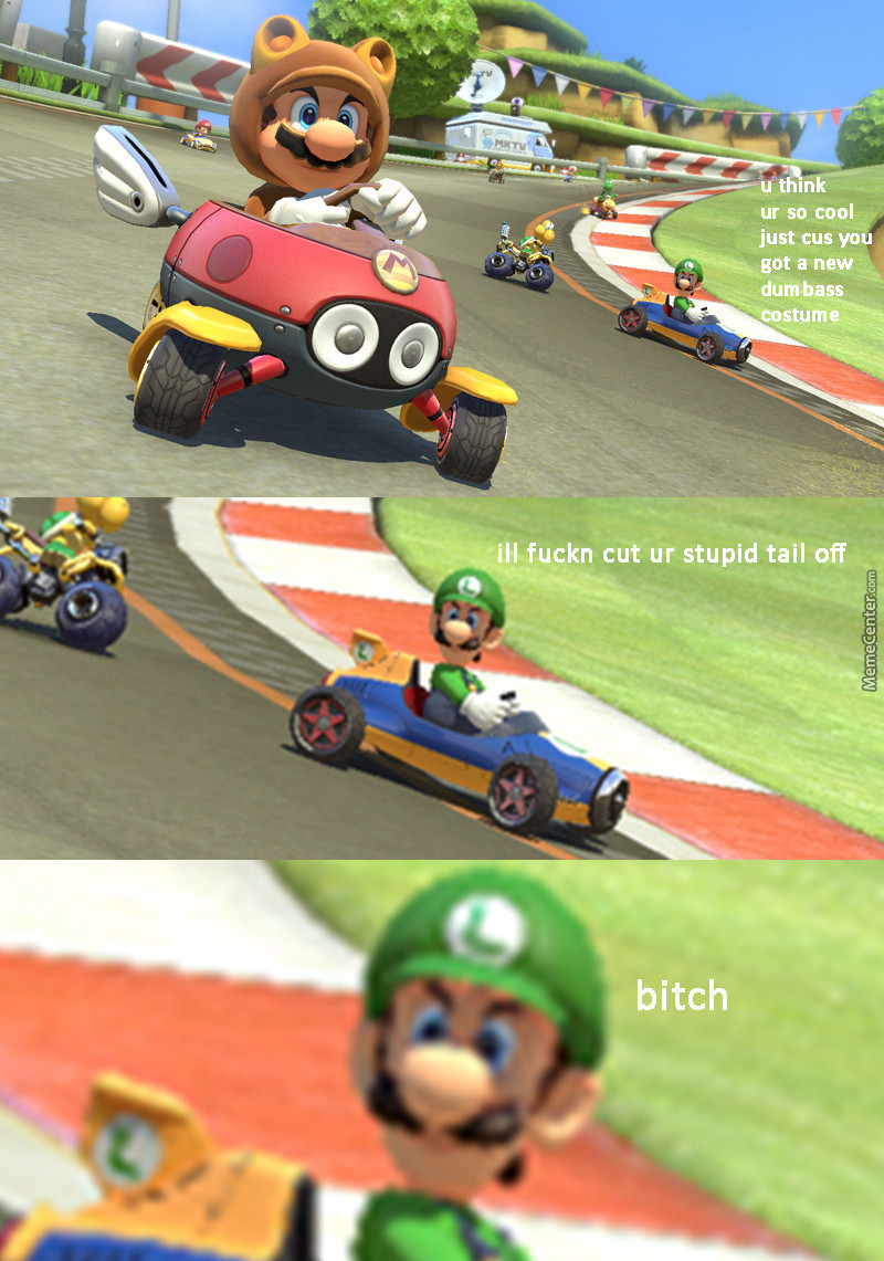 Luigi Death Stare By Mayonayse Meme Center