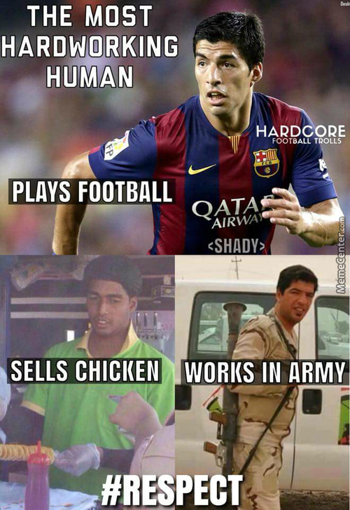 Luis Suarez Is A Working Tier