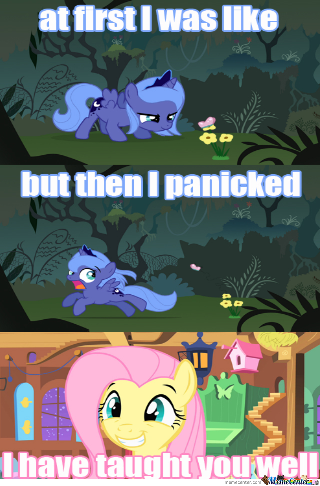 Luna Is Getting Tought By Fluttershy For Some Reason