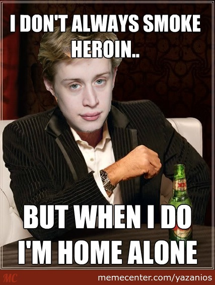 Macaulay Culkin Smoking Heroin