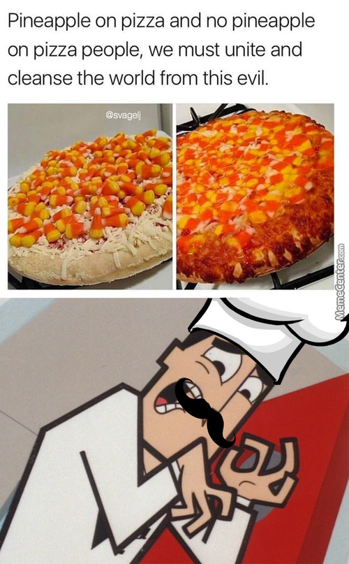 Mama Mia, Dis-A Pizza Is-A Abomination