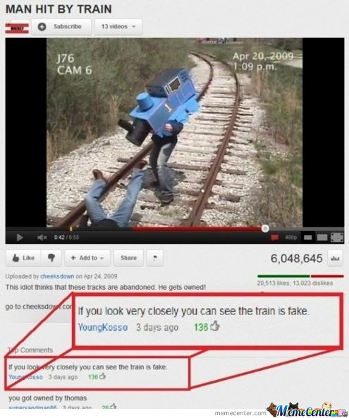 Man Hits By A  Train
