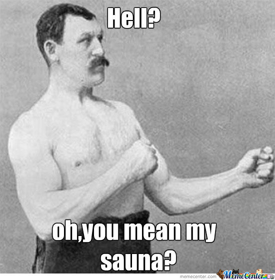 Manly Man Sauna