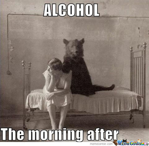 Many Alcohol And Morning