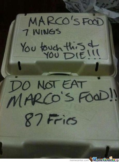 Marco Does Not Share His Food