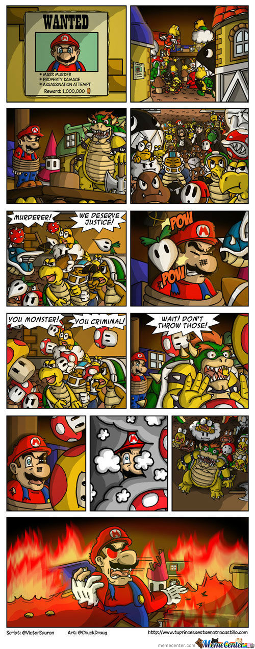 Mario Brought To Justice