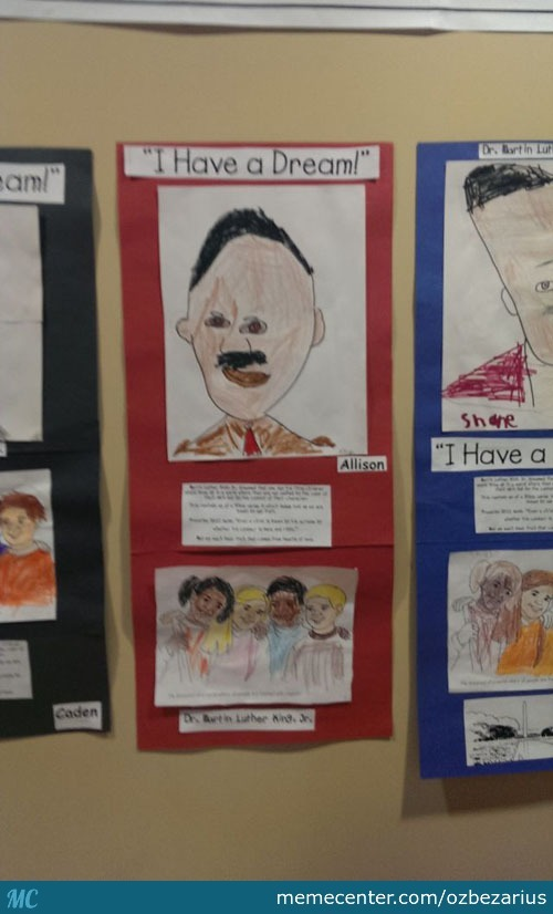 Martin Luther King Painting By A Preschooler