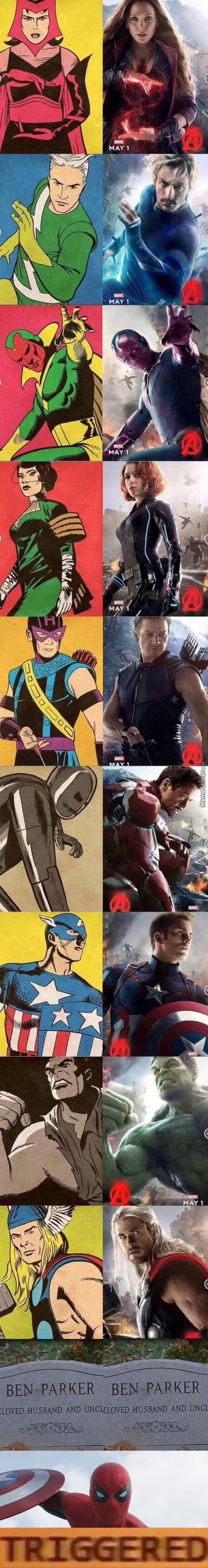 Marvel Characters Then Vs Now