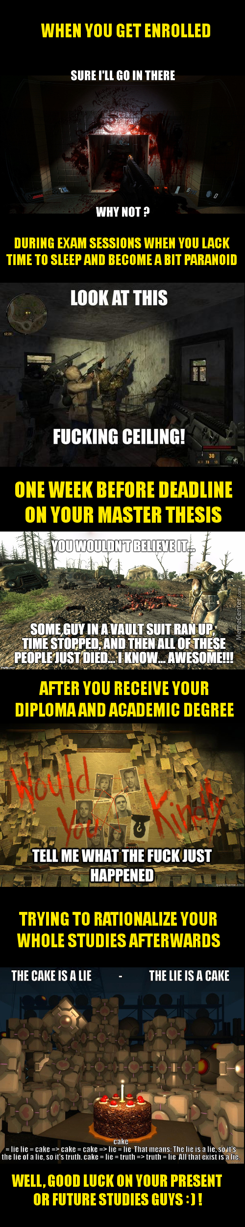 Master's Degree In A Nutshell - Told In Fps Screenshots