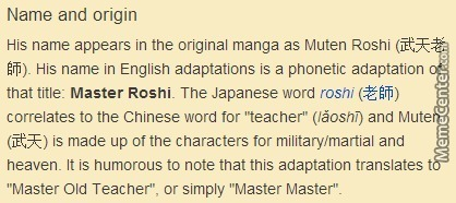 Master Roshi Was The Original Moon Moon