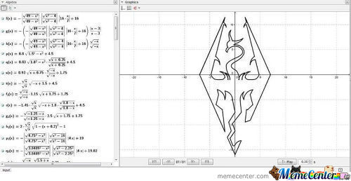 Skyrim Logo With Math Function
