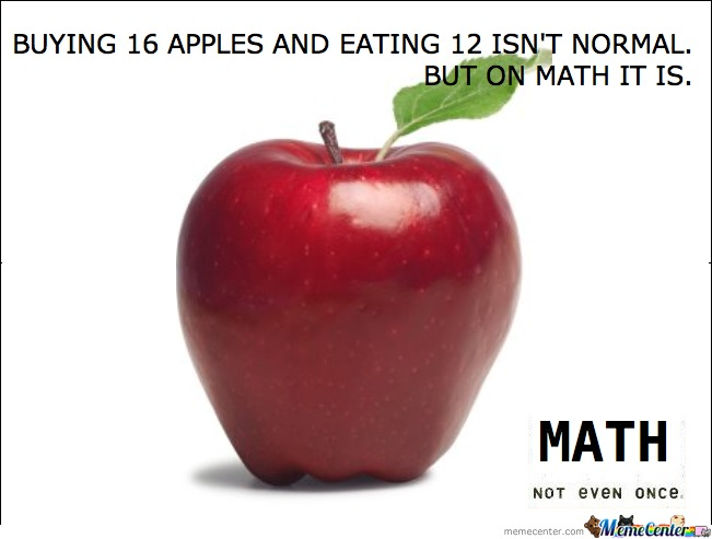 Math Not Even Once
