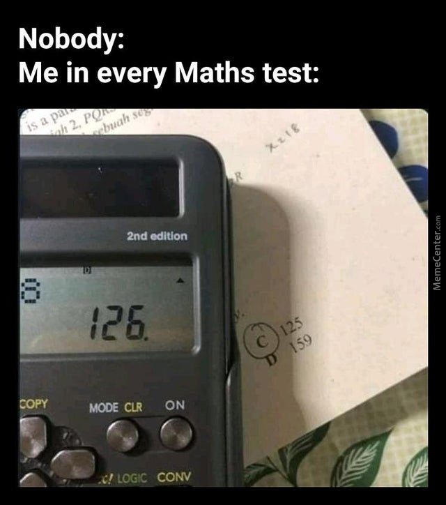 Maths Tests Are Nice...