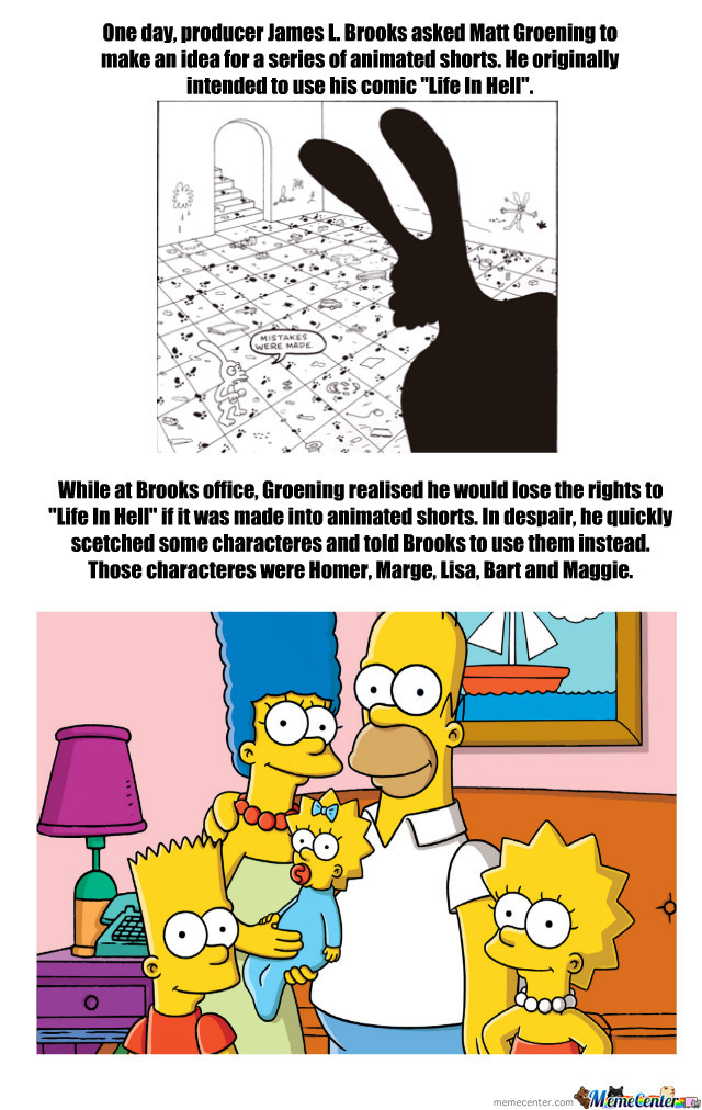 Matt Groening Scetched Gold In 15 Minutes.
