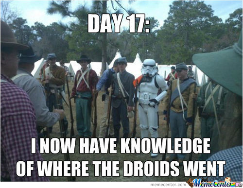 Maybe Those Were The Droids I Was Looking For...