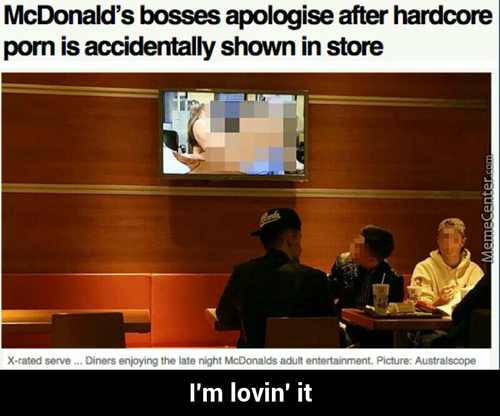 Mcdonald's After Hours, Now With Adult Entertainment.