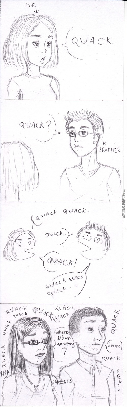 """Me And My Brother Are Real Dumbasses (The """"caricatures"""" Of My Parents Are Approximative)"""
