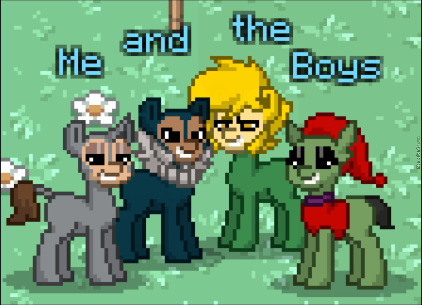 Me And The Boy Playing Pony Town