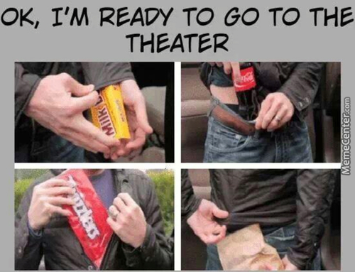 Me, Everytime I Go To The Theaters
