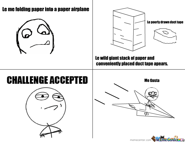 Me Gusta Giant Paper Airplane