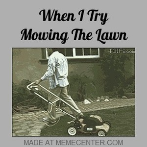 Me Mowing The Lawn By Shadowgunz21 Meme Center
