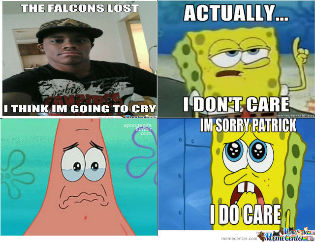 Mespongeboband Patrick Crying About The Falcons Lost By Dmackie363