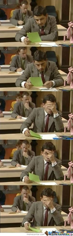Me When I Find Out There's Another Page On The Exam