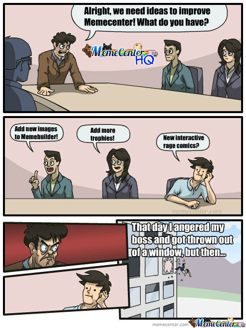 Meanwhile, At Memecenter Hq...