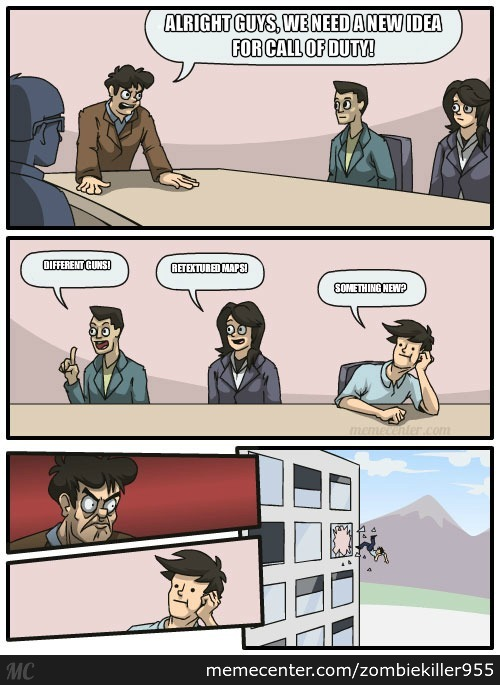 Meanwhile, In Call Of Duty Hq...