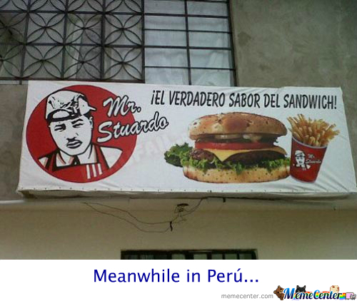 meanwhile in peru