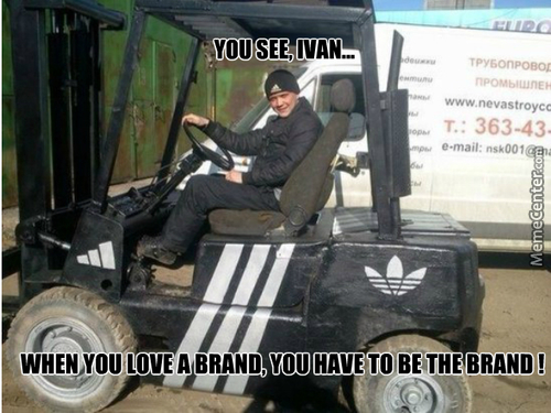 Meanwhile In Russia: Still In Love With Adidas...
