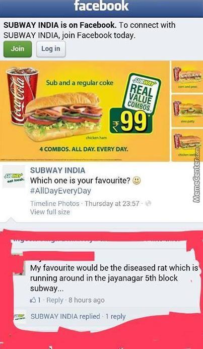 Meanwhile In Subway India