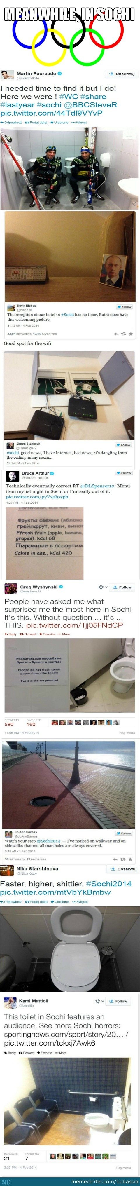 Meanwhile In The Olympic City Of Sochi By Kickassia Meme Center - Sochi problems tweets