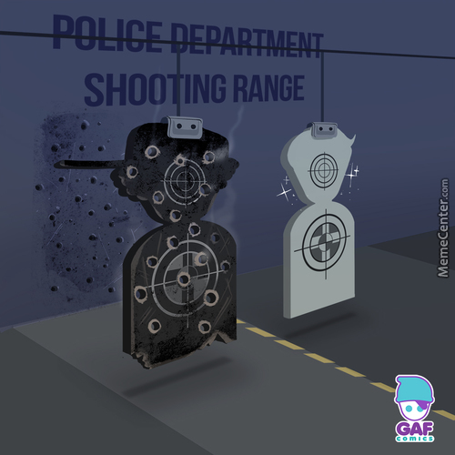 Meanwhile In The Police Department Shooting Range