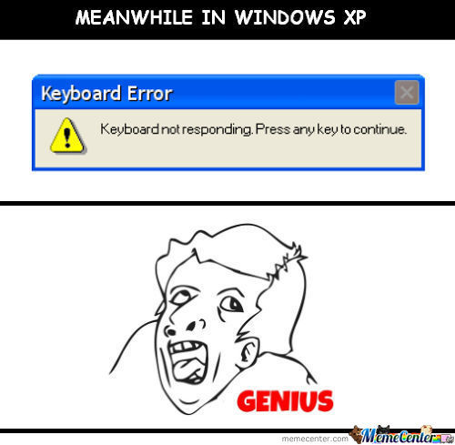 Meanwhile In Windows Xp.
