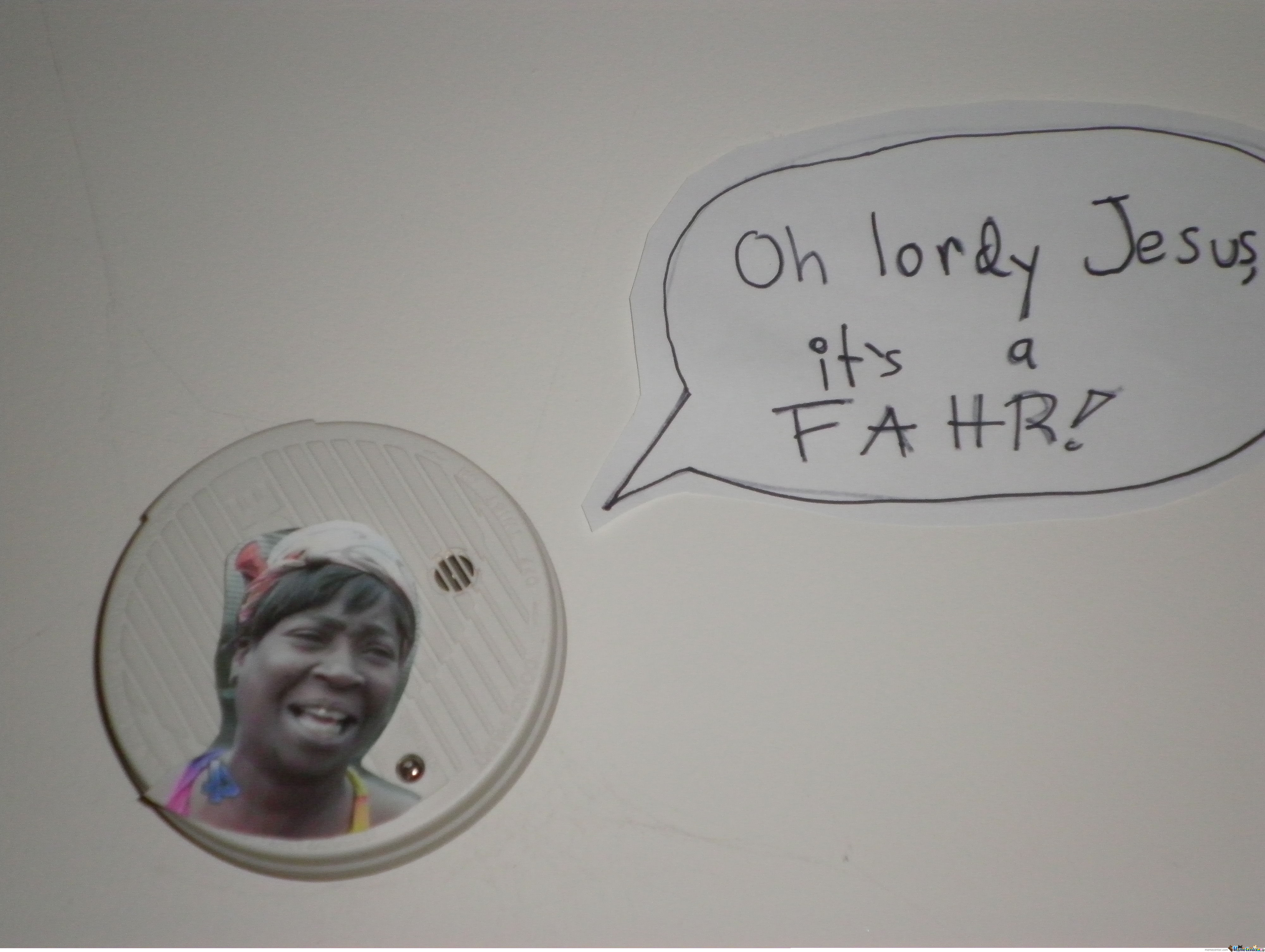 Meanwhile On My Smoke Alarm By Hatsuharu Meme Center