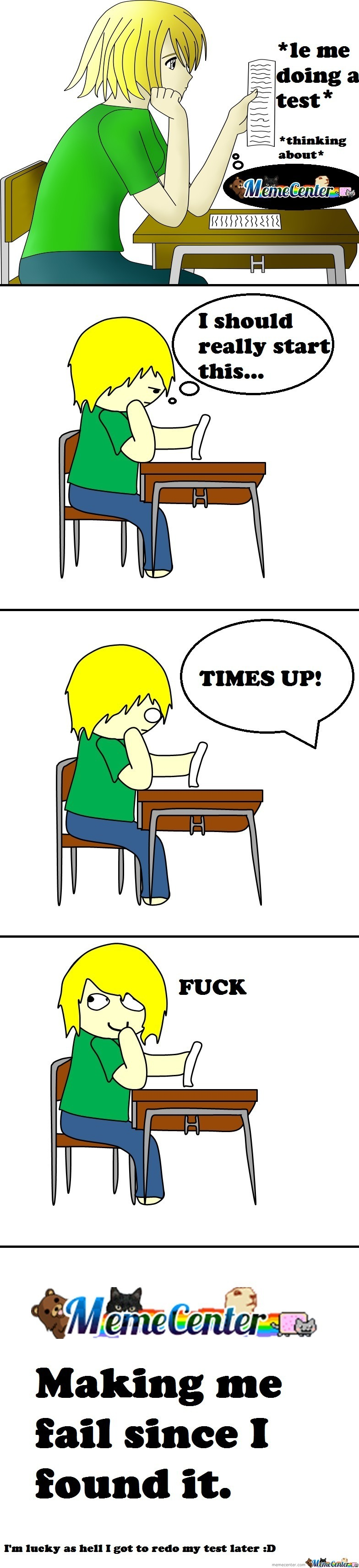 Memecenter Y U No Leave Me Alone At School?