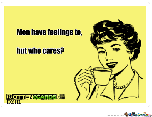 Men and feelings